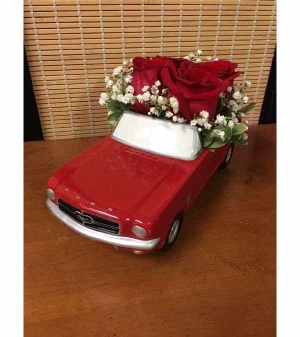 Red '65 Ford Mustang