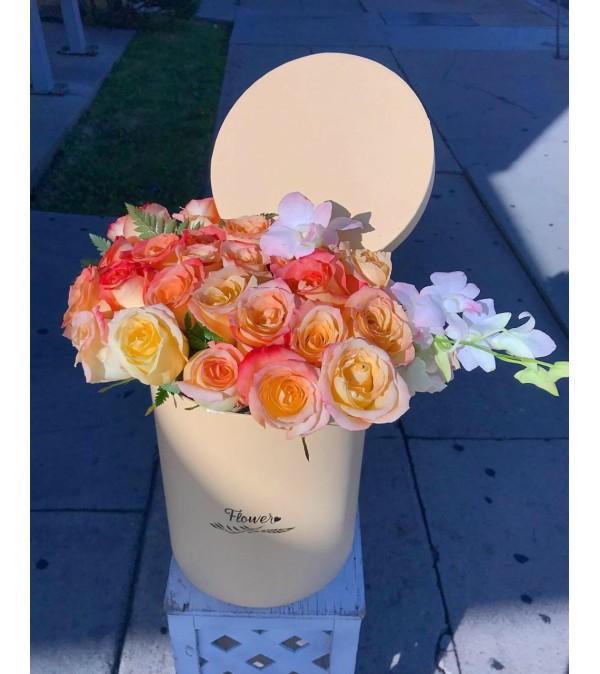Peachy Rose Bouquet