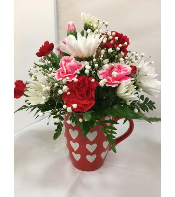 Hearts and Flowers Mug