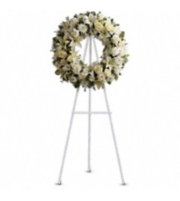 Teleflora's T239-3A Serenity Wreath