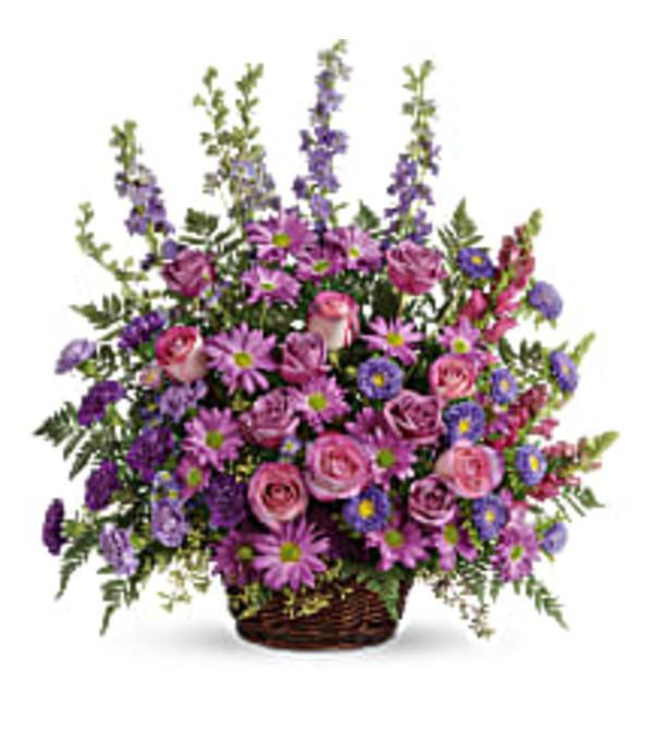 TRF235-1A Gracious Lavender Basket