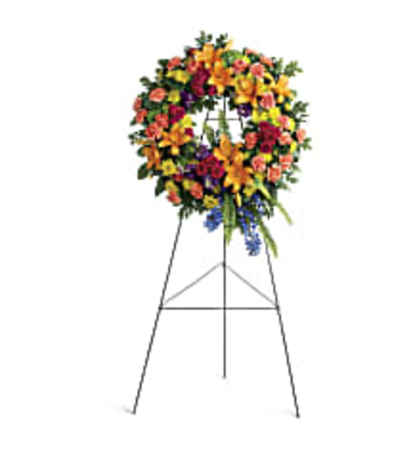 Teleflora's T282-7A Colorful Serenity Wreath