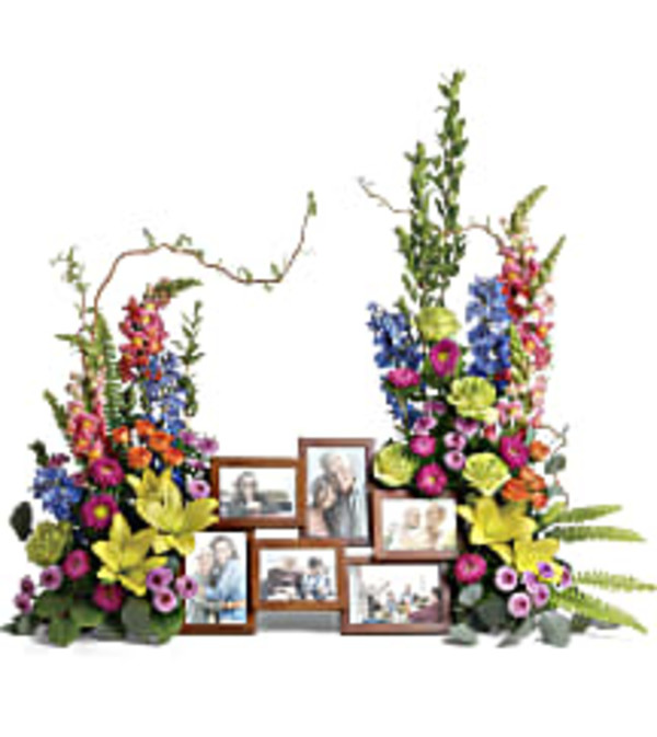 Teleflora's T282-8 Loving Farewell Photo Tribute Bouquet