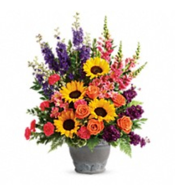 Teleflora's T279-1 Hues Of Hope Bouquet