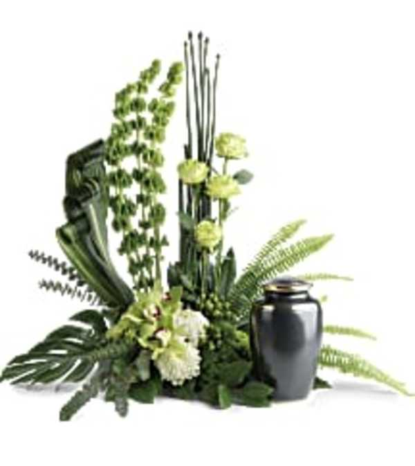 Teleflora's T283-2 Tranquil Peace Cremation Tribute