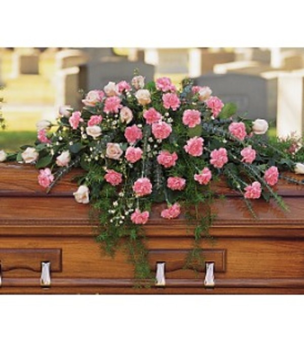 Pink Divine Casket Spray
