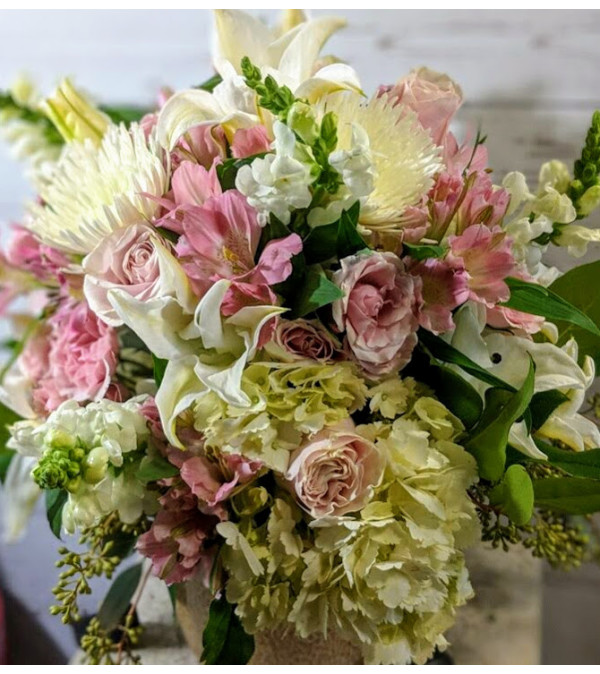 Pink Me Up with Hydrangea and Roses