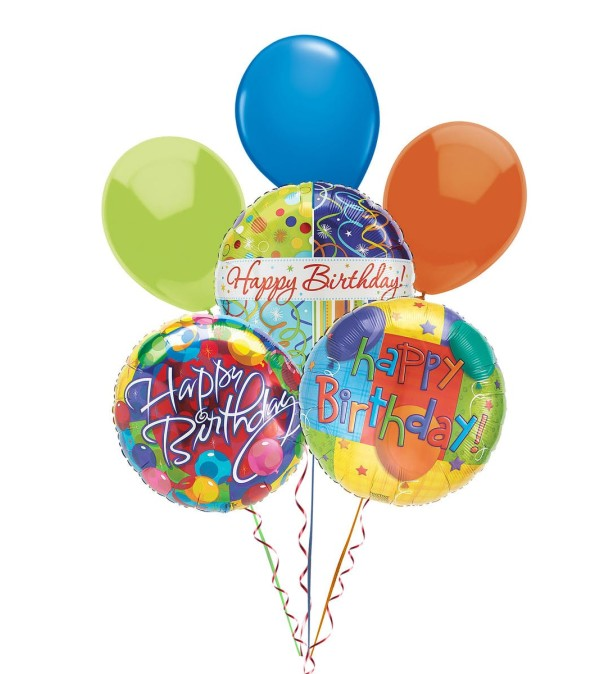 Balloon Bouquet-Happy Birthday