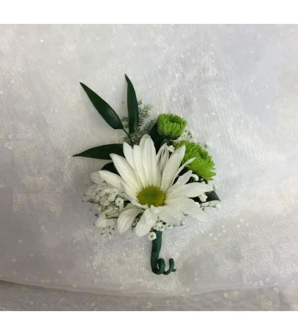 Bout 9 - White daisy, green button poms, (pick up only)