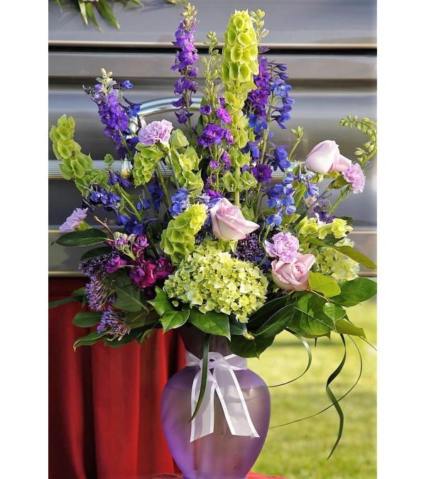 Lavender Reflections-Large Vase