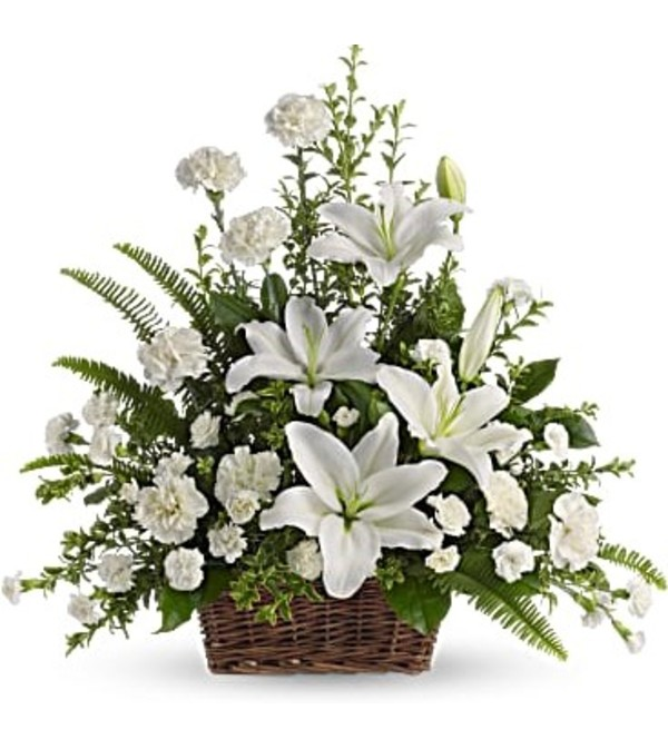 Large Basket Arrangement-White #1