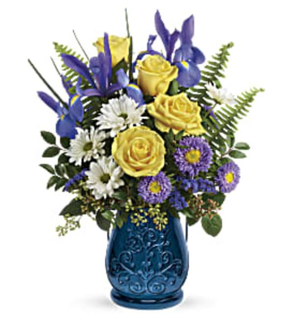 Sapphire Blue Garden Bouquet