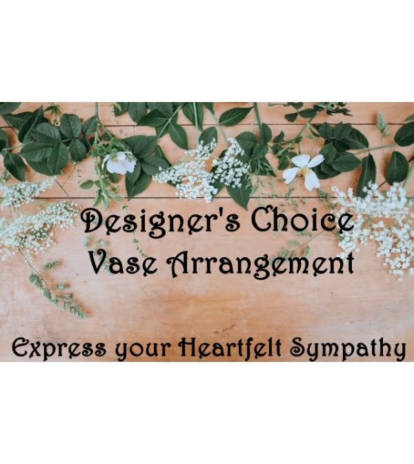 Vase Arrangement-Designer's Choice Sympathy