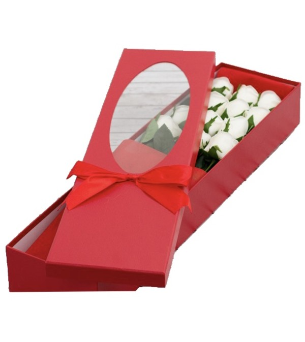 Red Box of White Rose