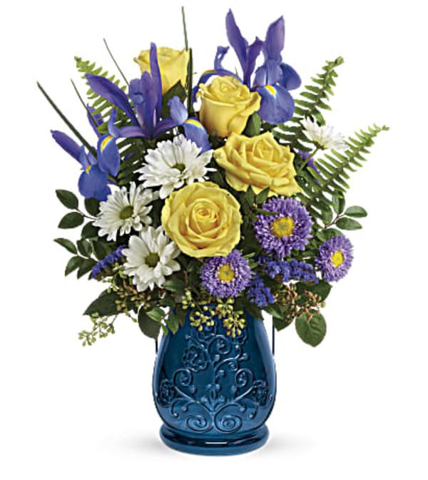 Teleflora Sapphire Garden Bouquet