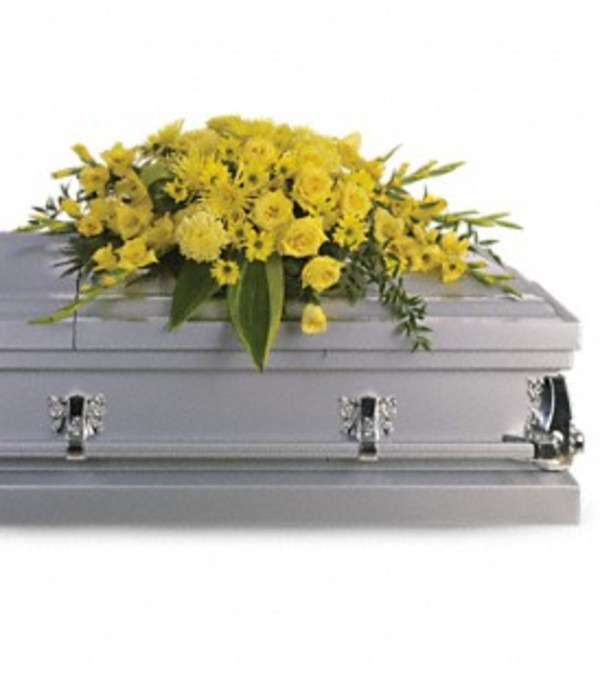 Graceful Grandeur Casket Spray Yellow