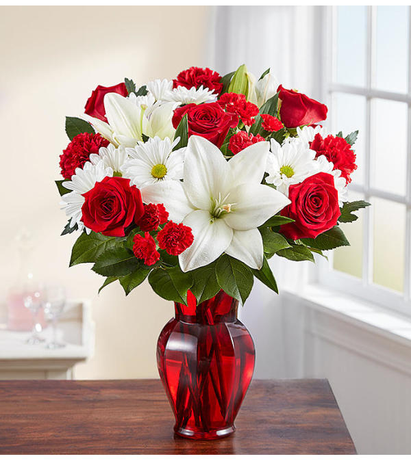 RED & WHITE FLORAL