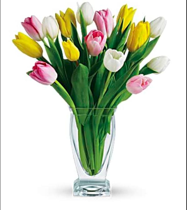 Simply Tulips Vased Arrangement