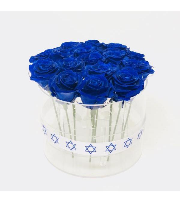 Acrylic Box cylinder -  15 roses