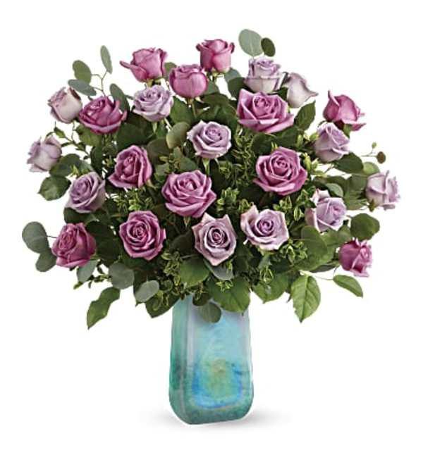 Two Dozen  Watercolor Roses Bouquet