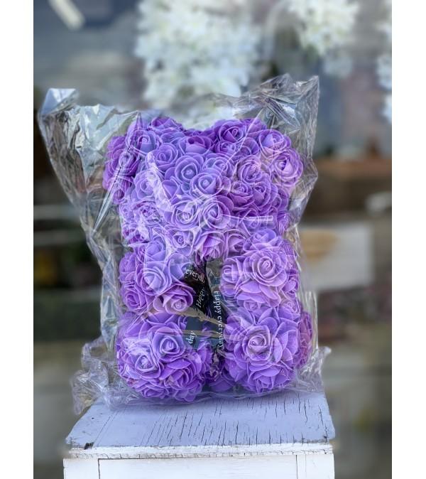 Small Purple Rose Bear