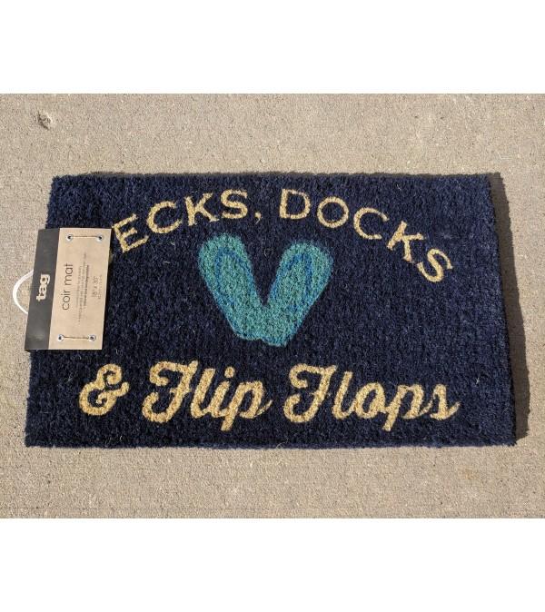 """Dock Mat """" Decks, Docks & Flip Flops"""""""