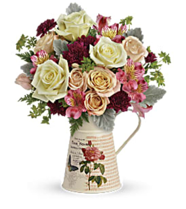 Teleflora's Rose Pitcher Bouquet