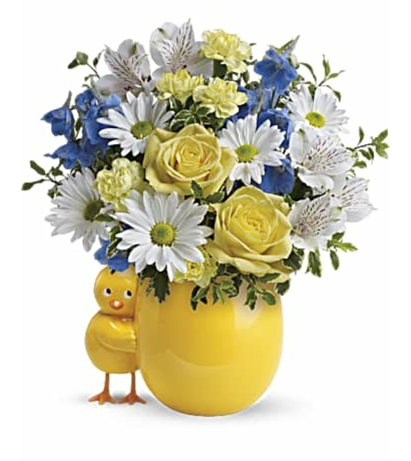 Sweet Peep Bouquet Blue