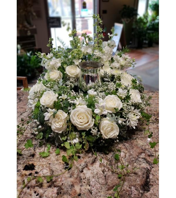 Soft Serenity Urn Wreath