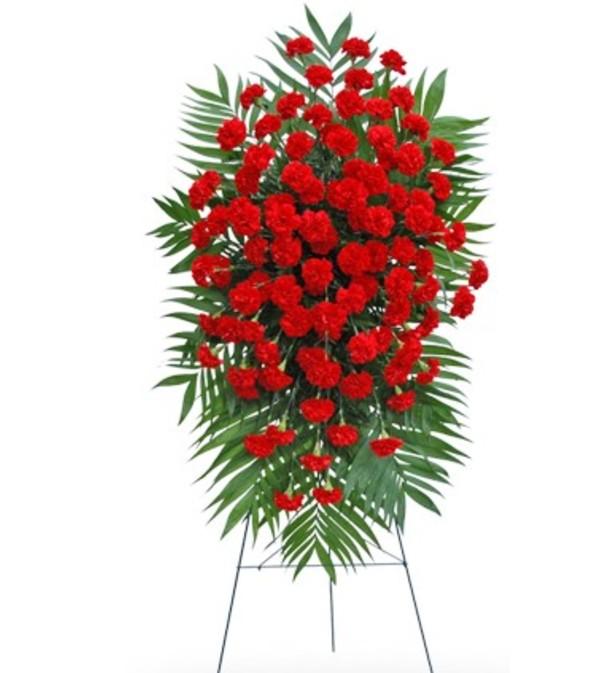 Red Carnation Standing Spray