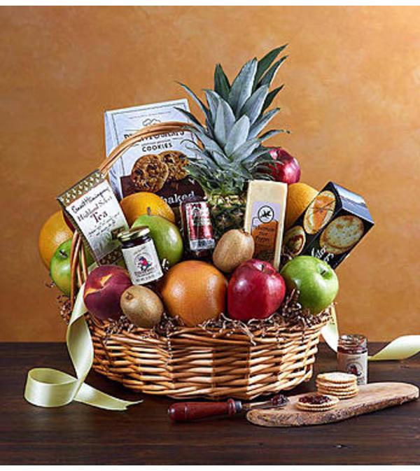 Happy Birthday Fruit & Sweets Gift Basket