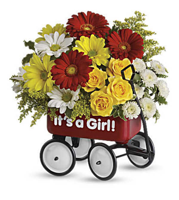 Baby's Wow Wagon Bouquet