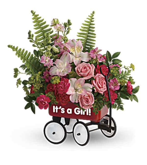 Sweet Little Girl Wagon Bouquet