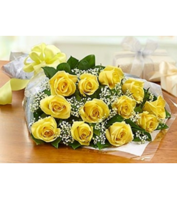 WRAPPED ROSE SALE! - Red/Yellow or Orange