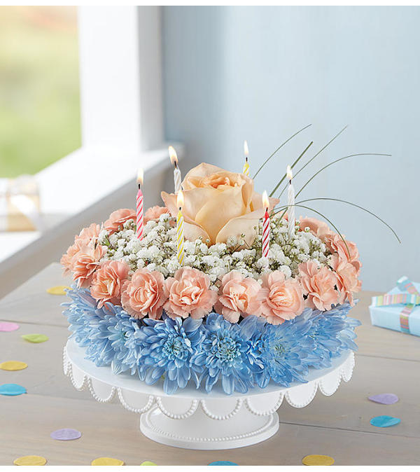 Birthday Wishes Flower Cake ® Coastal