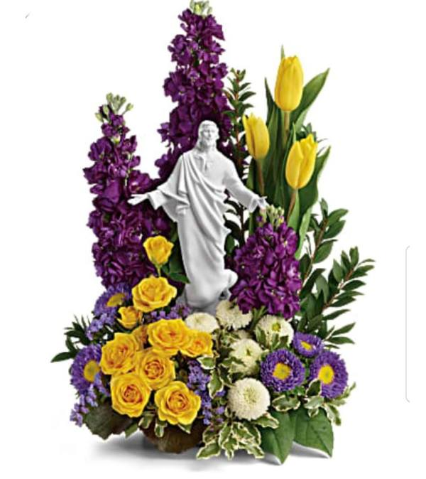 Jesus in Spring Garden