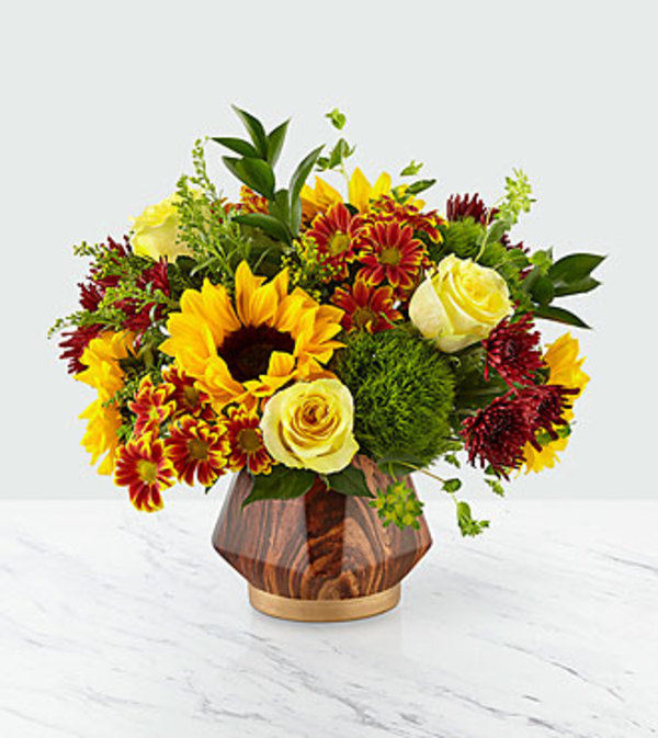 Fall Harvest in Vase