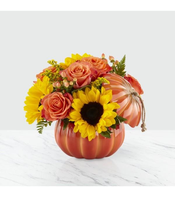 Harvest Traditions Pumpkin FTD Bouquet