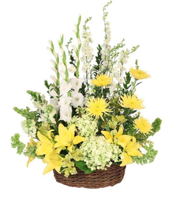 Prayerful Whisper Funeral Flowers- FSN