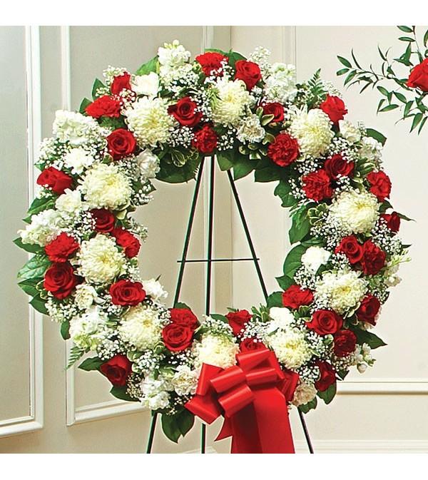 Open Wreath-Red & White