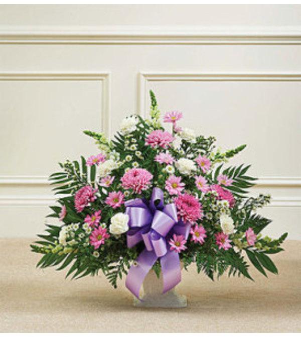 Floor Basket-Lavender & White