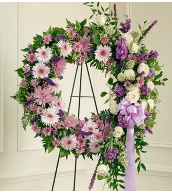 Wreath-Lavender/Purple Mix