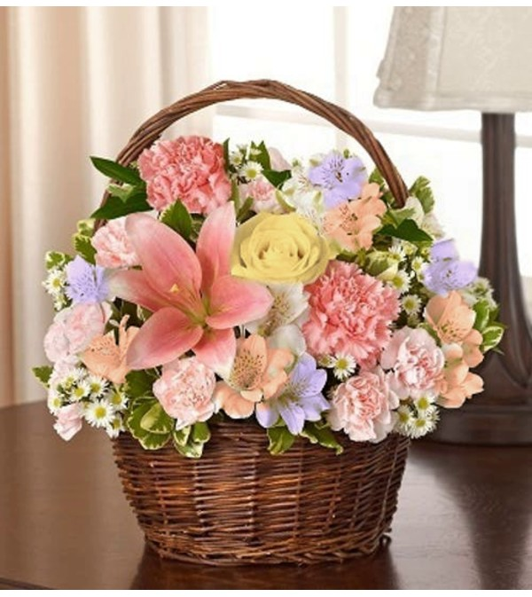 Basket Arrangement-Pastel