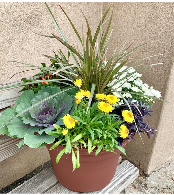 Fall Patio Planter