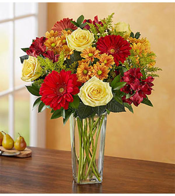 Flowers Autumn Joy Bouquet by 1800 Flowers