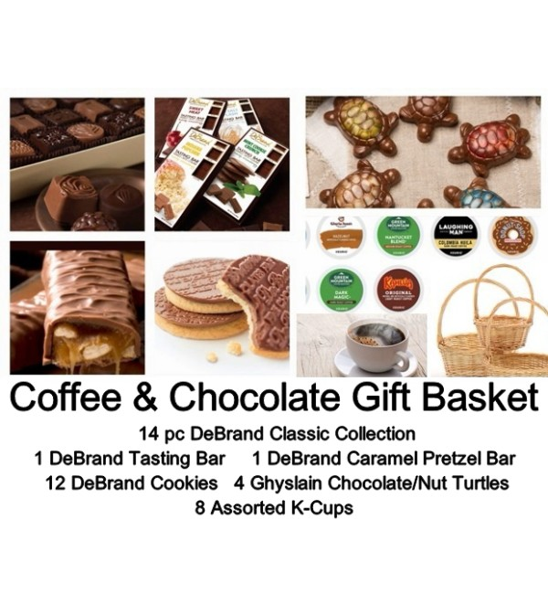 Chocolate/Coffee Gift Basket-DeBrand & Ghyslain