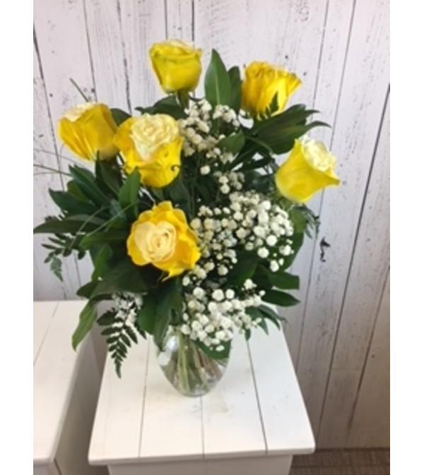 Vibrant Bicolor Rose Yellow