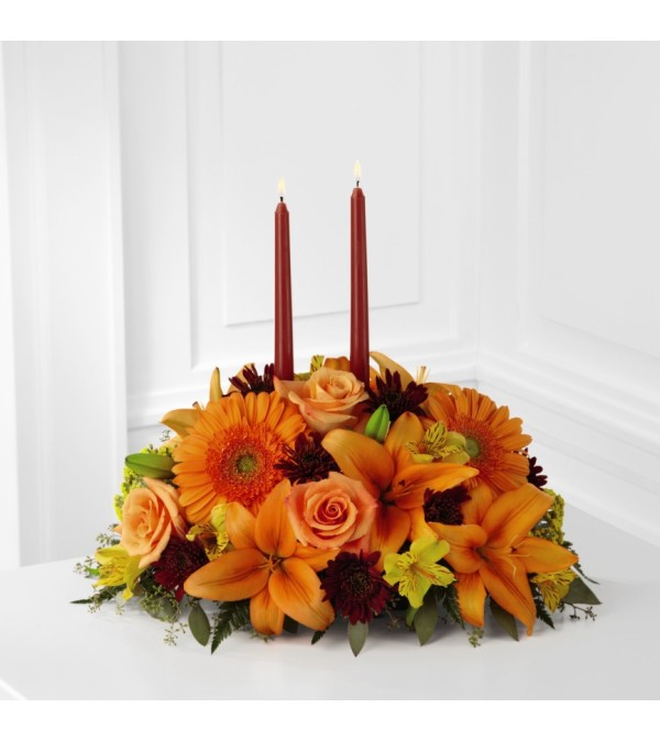Bright Autumn Table Centerpiece
