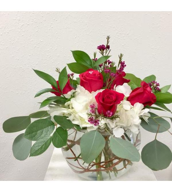 Roses and Hydrangea Bowl