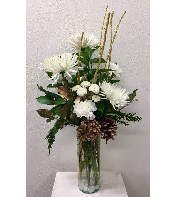 Winter White Vase